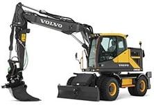 Mobilbagger von Volvo - Menü