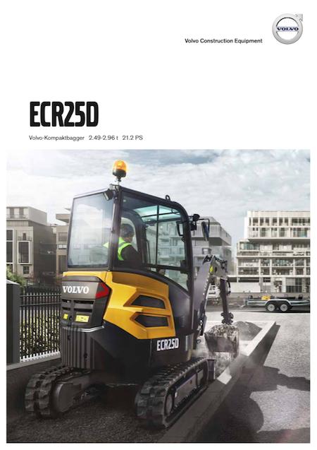 Volvo Kompaktbagger ECR25D-Produktbroschuere