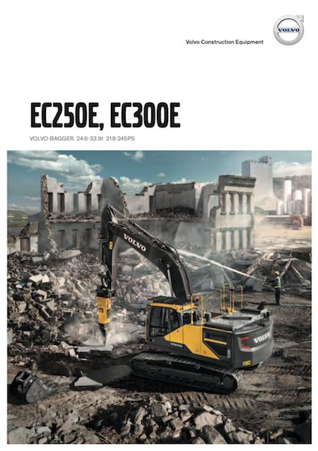 volvo kompaktbagger ec250e produktbroschuere